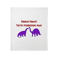 Overbreeding Dinosaurs Throw Blanket
