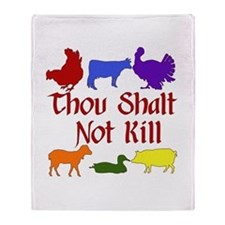 Thou Shalt Not Kill Throw Blanket