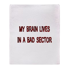 Brain Lives In Bad Sector Throw Blanket