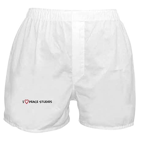 I Love Peace Studies Boxer Shorts
