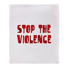 Stop The Violence Throw Blanket