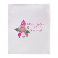 Breast Cancer Support Friend Throw Blanket