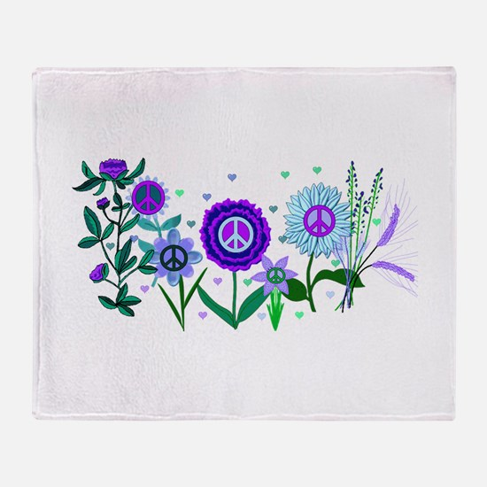 Growing Peace Throw Blanket