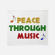 Peace Through Music Throw Blanket