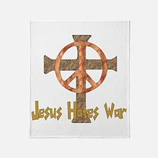 Jesus Hates War Throw Blanket