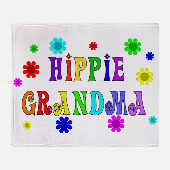 Hippie Grandma Throw Blanket