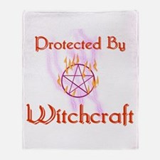 Protected By Witchcraft Throw Blanket