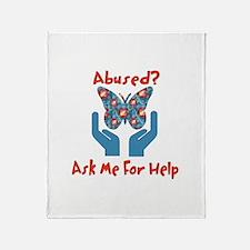 Domestic Violence Help Throw Blanket
