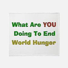 End World Hunger Throw Blanket