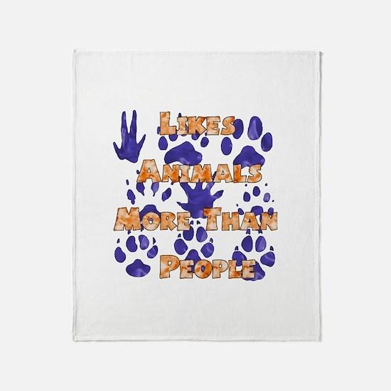 Animal Lover Throw Blanket