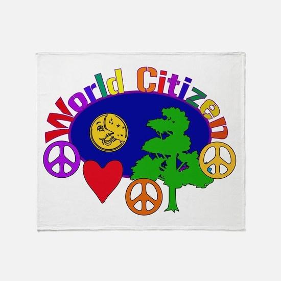 Citizen Of One World Throw Blanket