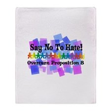 Say No To Hate Throw Blanket