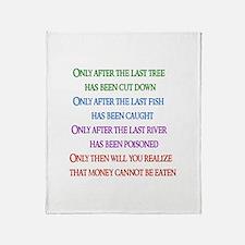Rainbow Planet Quote Throw Blanket