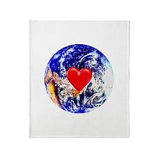 Earth Heart Throw Blanket