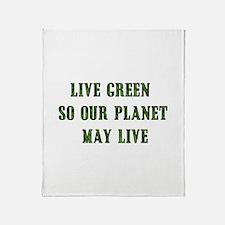 Live Green Throw Blanket
