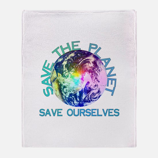 Save The Planet Throw Blanket
