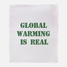 Global Warming Is Real Throw Blanket