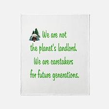 Earth's Caretaker Throw Blanket