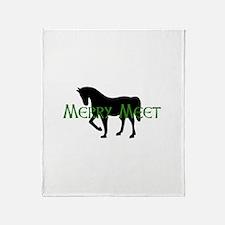 Merry Meet Spirit Horse Throw Blanket