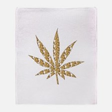 Shroom Weed Leaf Throw Blanket