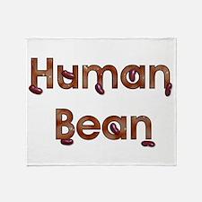 Human Bean Throw Blanket