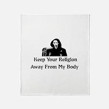 Freethinker Shirt Throw Blanket
