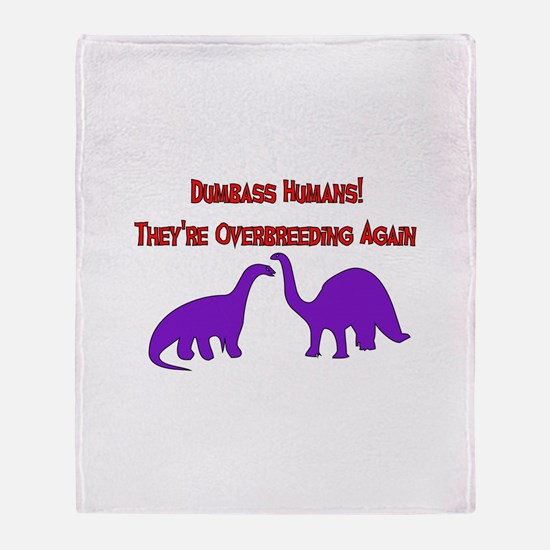 Overbreeding Dinosaurs Throw Blanket