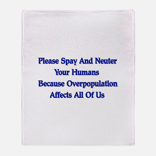Spay And Neuter Throw Blanket