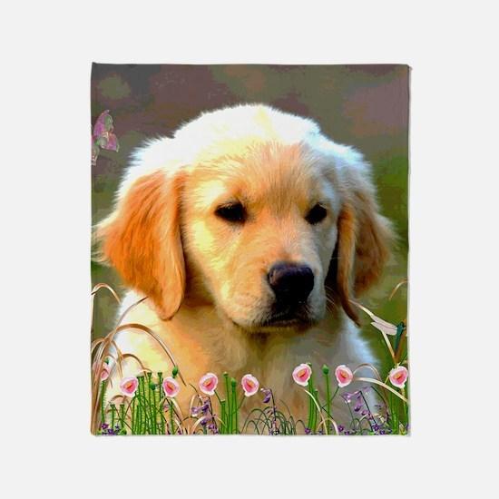 Austin, Retriever Puppy Throw Blanket