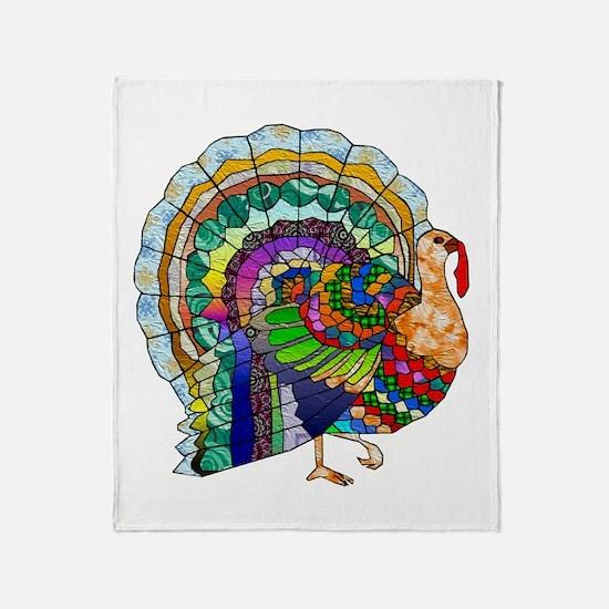 Patchwork Thanksgiving Turkey Throw Blanket