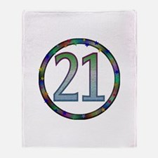 21st Birthday Shirt Throw Blanket