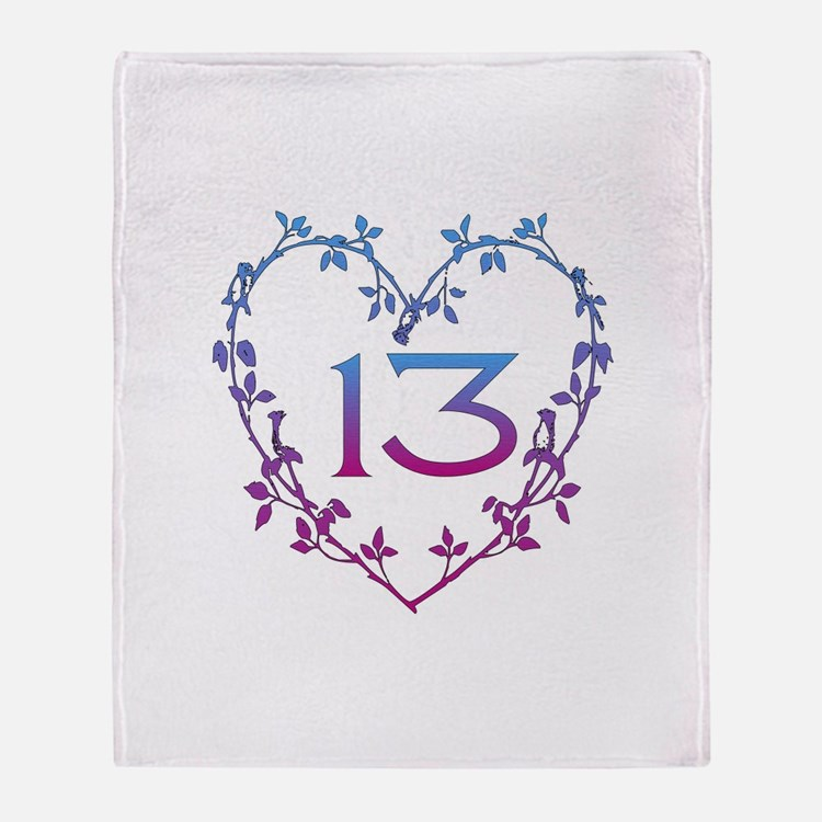 Thirteenth Birthday Throw Blanket