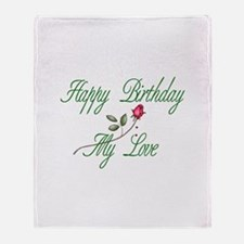 Lover Birthday Throw Blanket