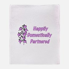 Happily Domestically Partnere Throw Blanket