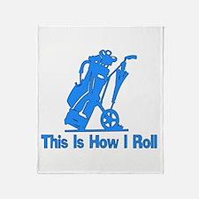 Golfing Dad Throw Blanket