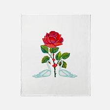 Romantic Valentine Swans Throw Blanket