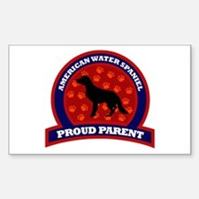 American Water Spaniel Rectangle Decal