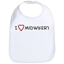 I Love Midwifery Bib