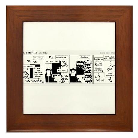3i Comic Strip Framed Tile