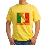 Italy Map with Flag Yellow T-Shirt