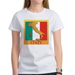 Italy Map with Flag Women's T-Shirt