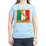 Italy Map with Flag Women's Light T-Shirt