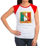 Italy Map with Flag Women's Cap Sleeve T-Shirt
