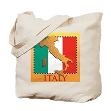 Italy Map with Flag Tote Bag