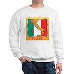 Italy Map with Flag Sweatshirt