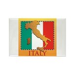 Italy Map with Flag Rectangle Magnet (10 pack)