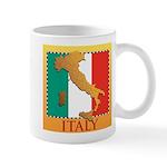 Italy Map with Flag Mug