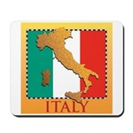 Italy Map with Flag Mousepad