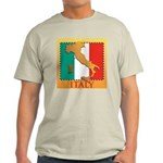 Italy Map with Flag Light T-Shirt