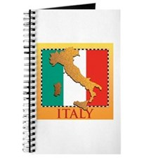 Italy Map with Flag Journal